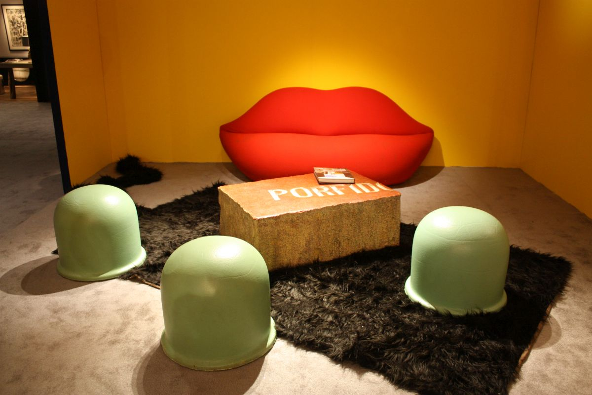 Fun and funky is an apt description for this living room grouping.