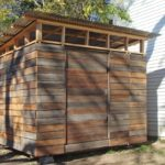 Reclaimed wood shed diy