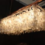 The recycled glass used creates a delicate ambiance.