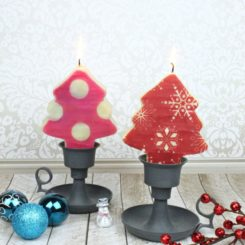 Tree Shaped Candle Decor for the Holidays