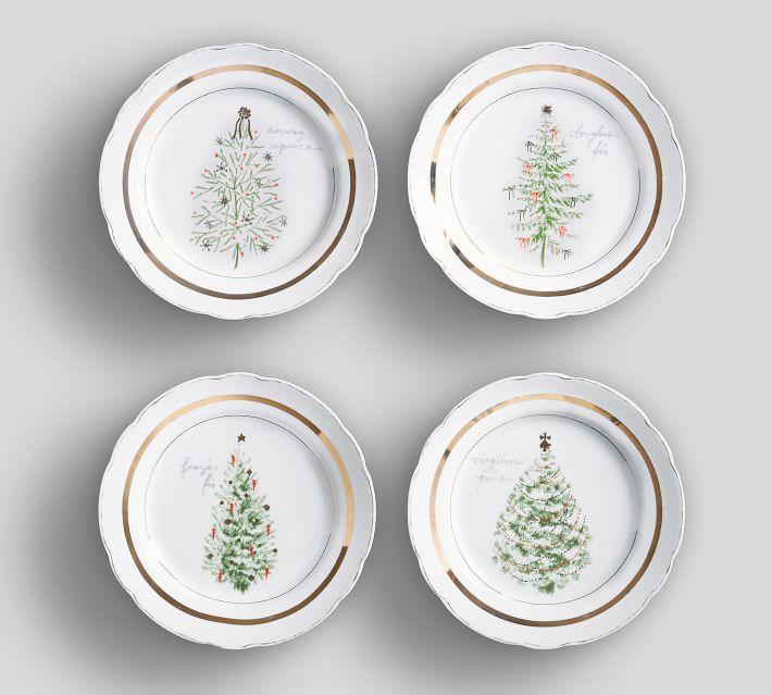Vintage christmas plate set