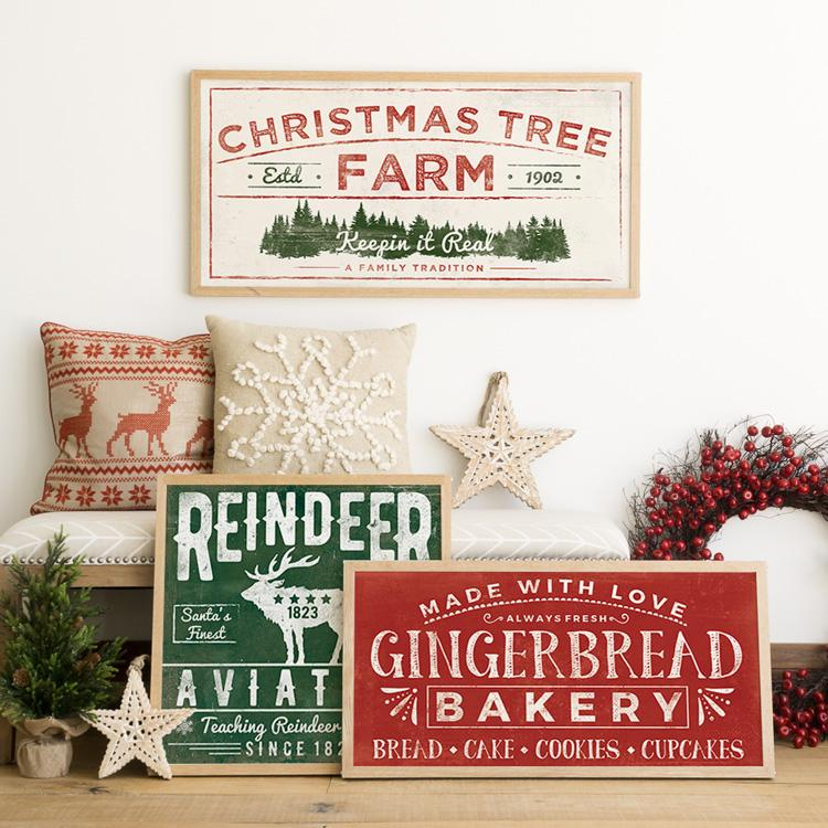 Vintage christmas sign posters
