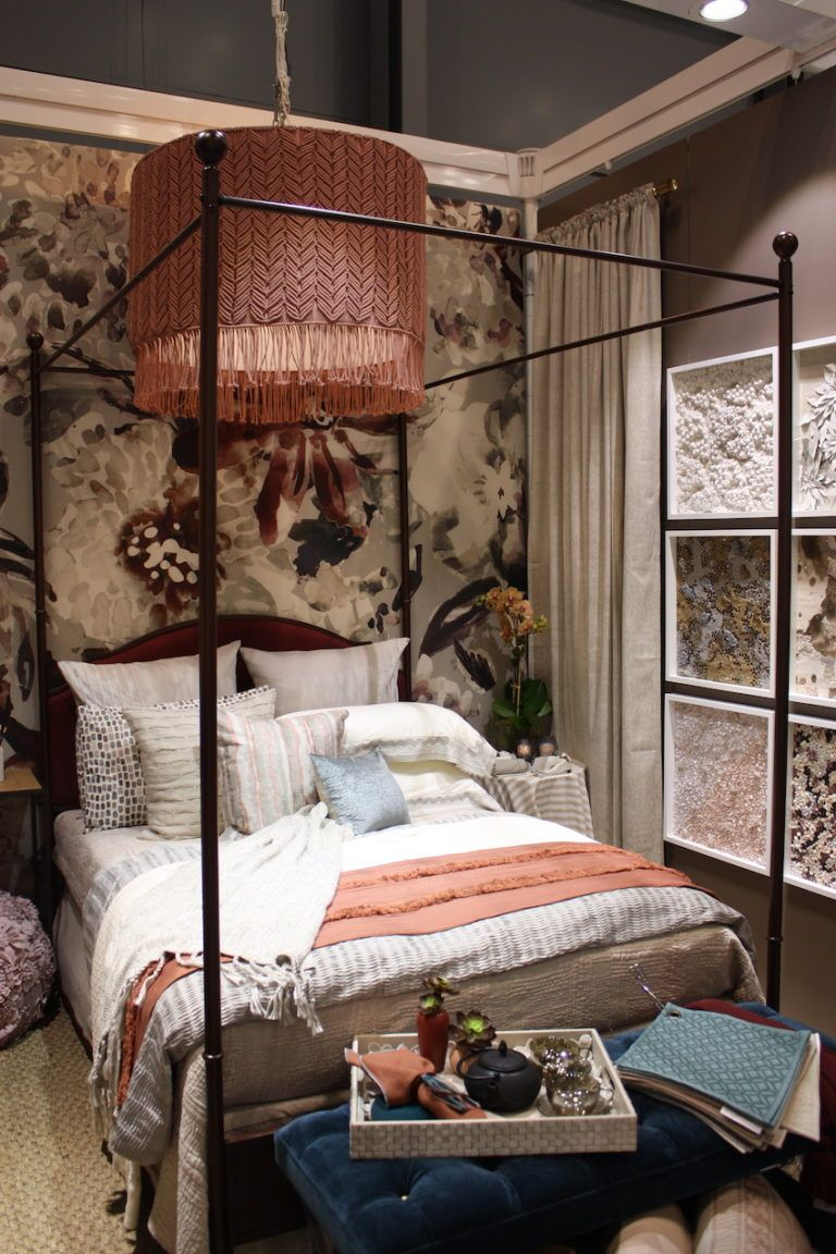 The eclectic collection is casual yet creates a luxe bedroom environment.