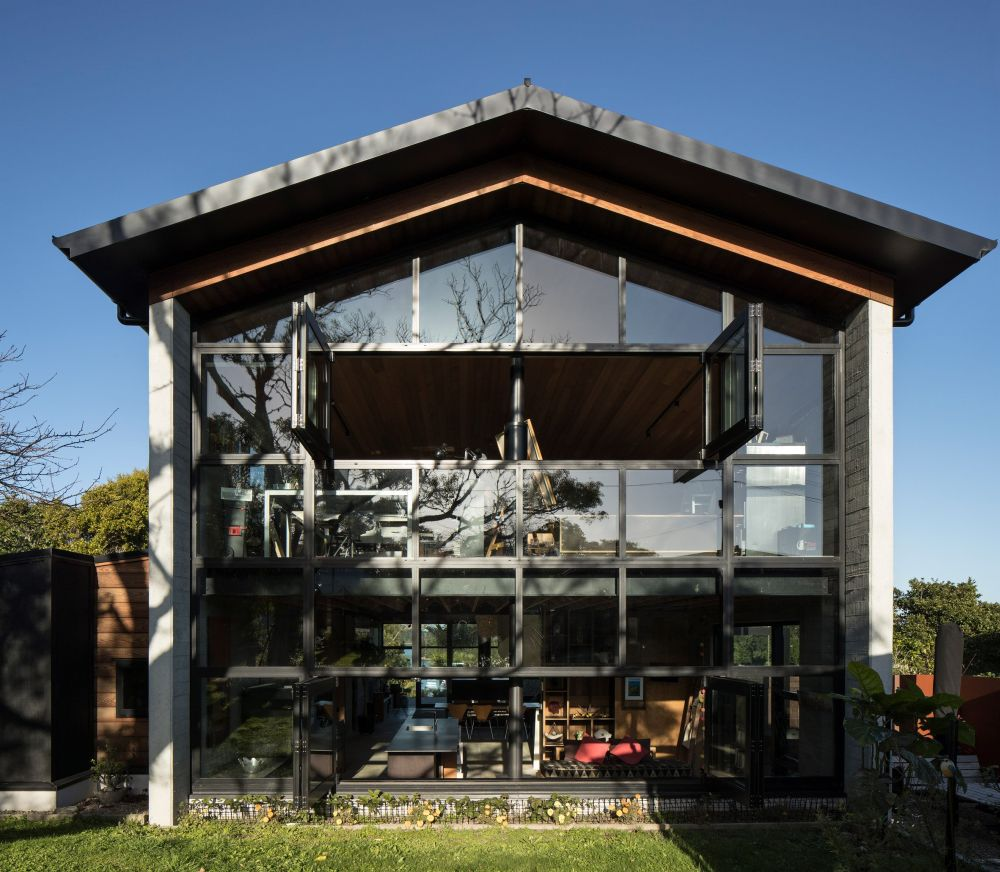 One of the cool things about this house is the design which makes it look like an oversized little cabin