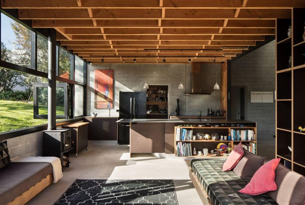 The ground floor has a grand space at the center and several cozy ones spread around it