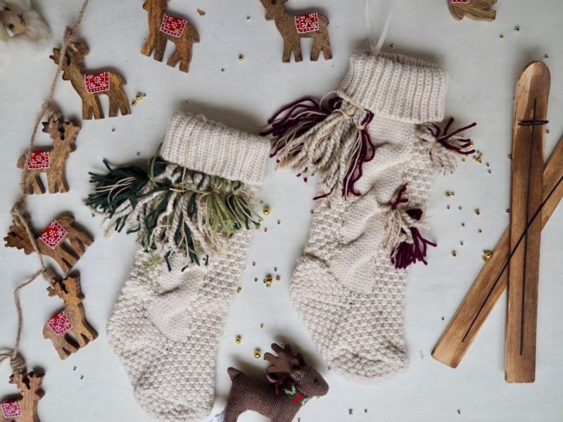 DIY Tassel Christmas Stocking