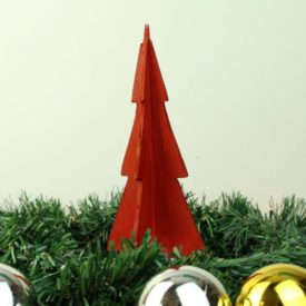 Wooden Christmas Tree Table Centerpieces