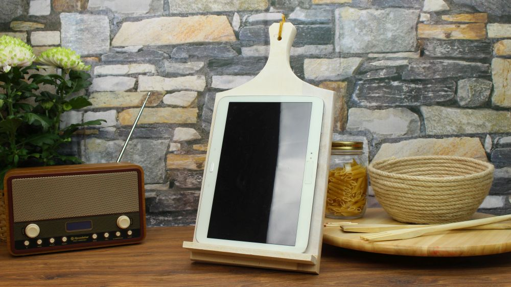 From Cutting Board To Tablet Holder
