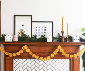 DIY Orange Slice Garland