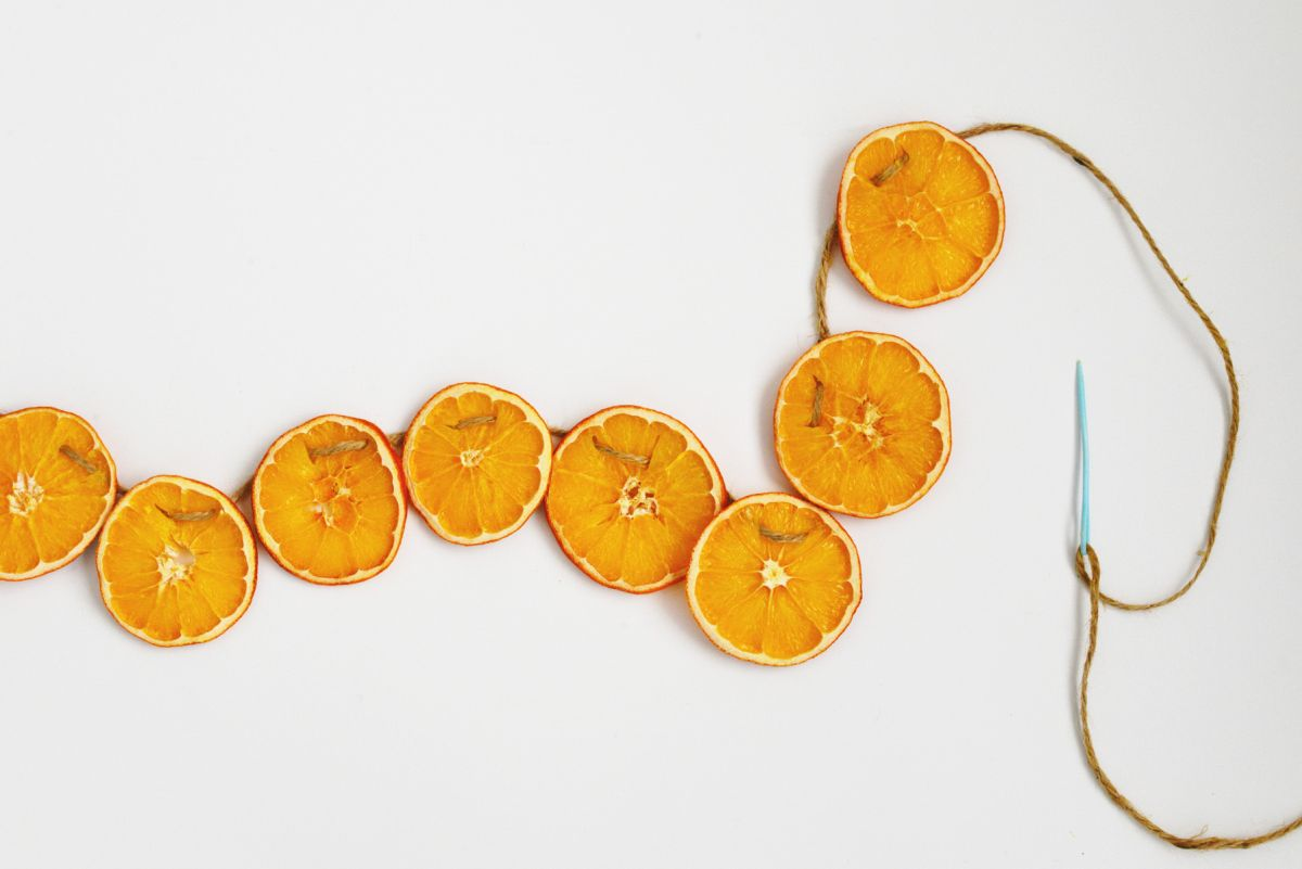 Diy Dried Orange Garland Step By Step Crafting Process