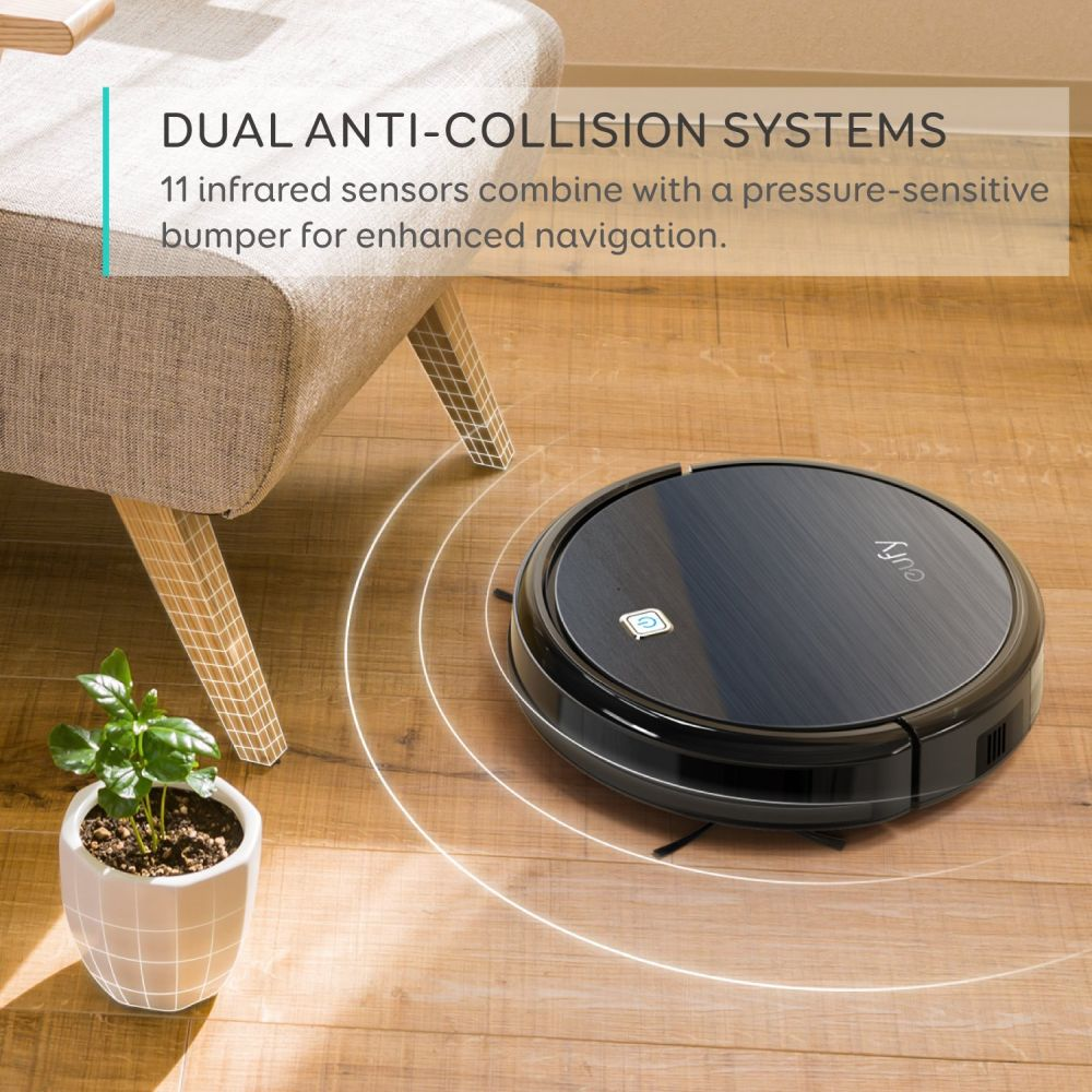 Eufy RoboVac 11, High Suction, Self-Charging Robotic Vacuum Cleaner with Drop-Sensing Technology and High-Performance Filter for Pet
