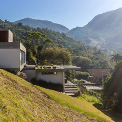 The FY House is a beautiful residence on a relatively remote site along the road