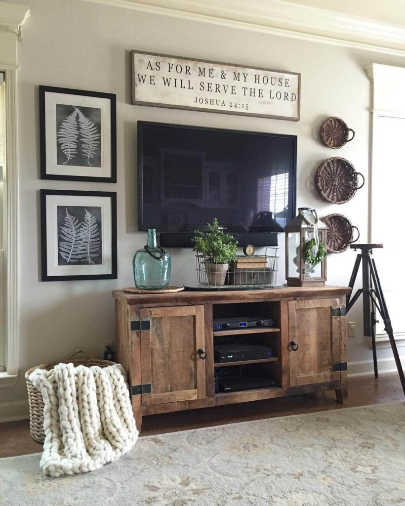 Decorating Around Your Mounted TV