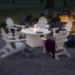 Folding Adirondack 6-Piece Conversation Set with Fire Pit Table
