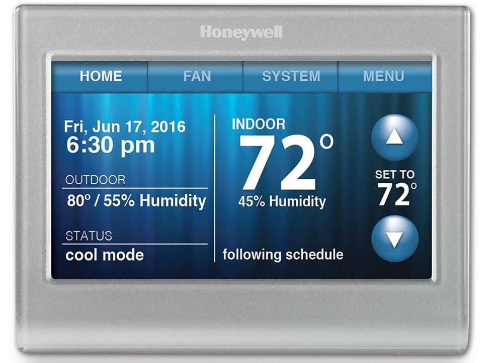 Honeywell RTH958OWF Smart Wi-Fi 7-Day Programmable Color Touch Thermostat