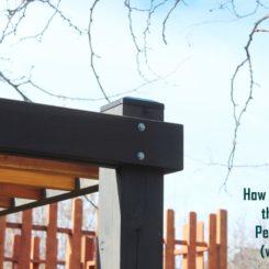 How to Cap Pergola Posts for Longevity & Weather Protection