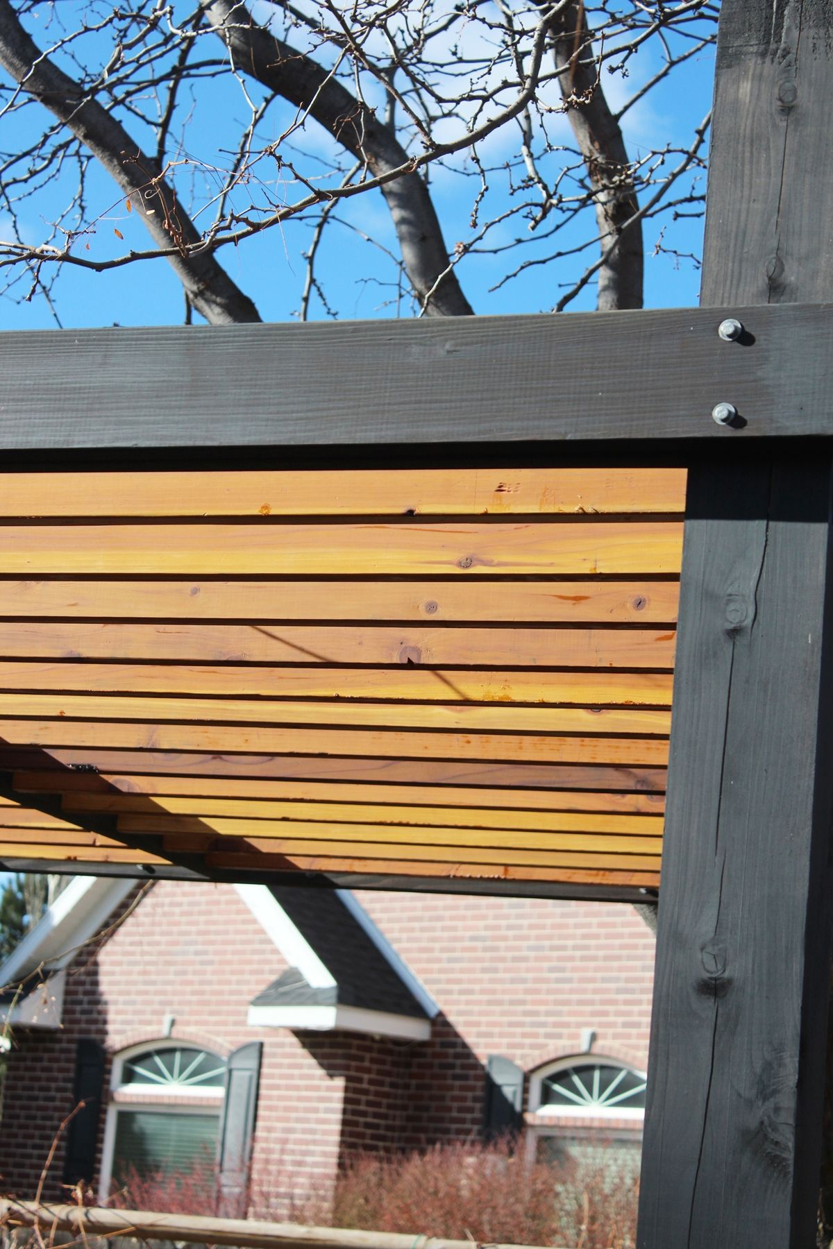 How to Install Pergola Rafters - When all the rafters are installed