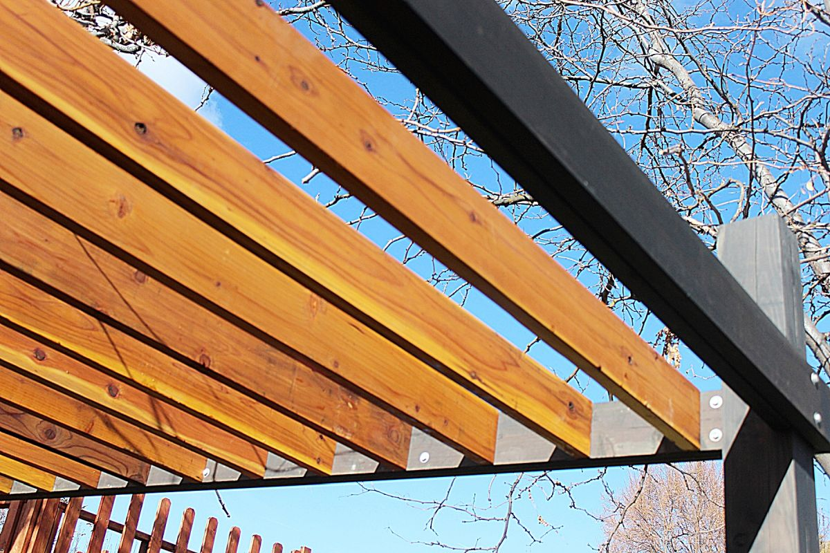 How To Stain And Seal A Wood Pergola