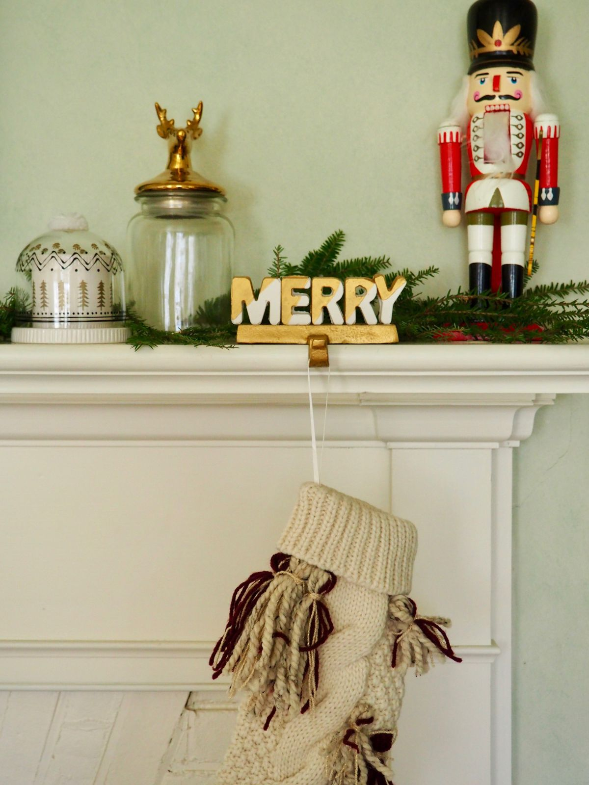Merry Stocking Holder for your Holiday Mantel