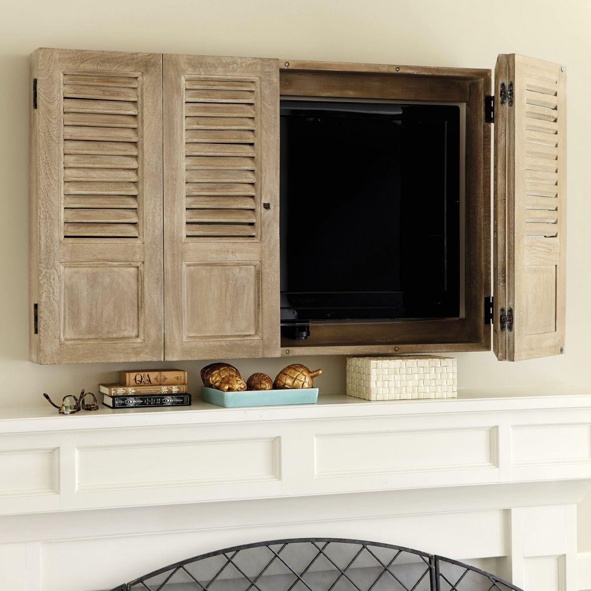 Mounted TV shutters
