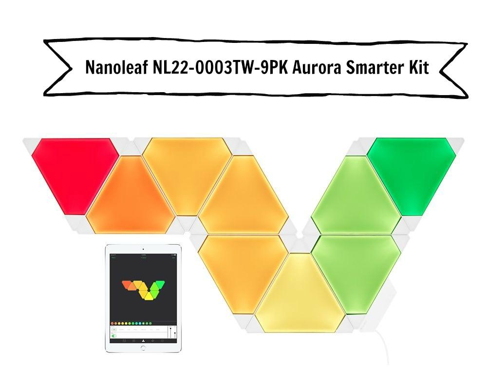 Nanoleaf NL22-0003TW-9PK Aurora Smarter Kit