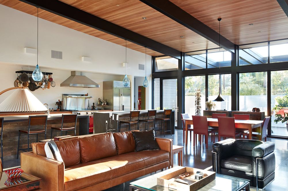 ... The Open Plan Living Spaces Are Simple And Modest, Just Like The  Outside Of The
