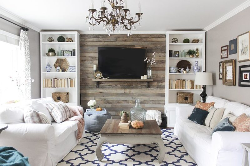 Captivating 12 Backdrops To Make Your Mounted TV More Interesting