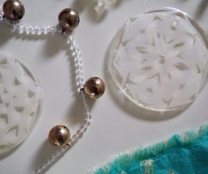 Snowflake Coasters for Festive Winter Decor or Gift Idea