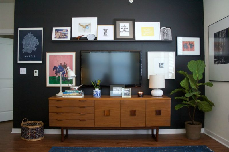 10 Tips for Decorating Around Your Mounted TV. Homedit   interior design and architecture inspiration