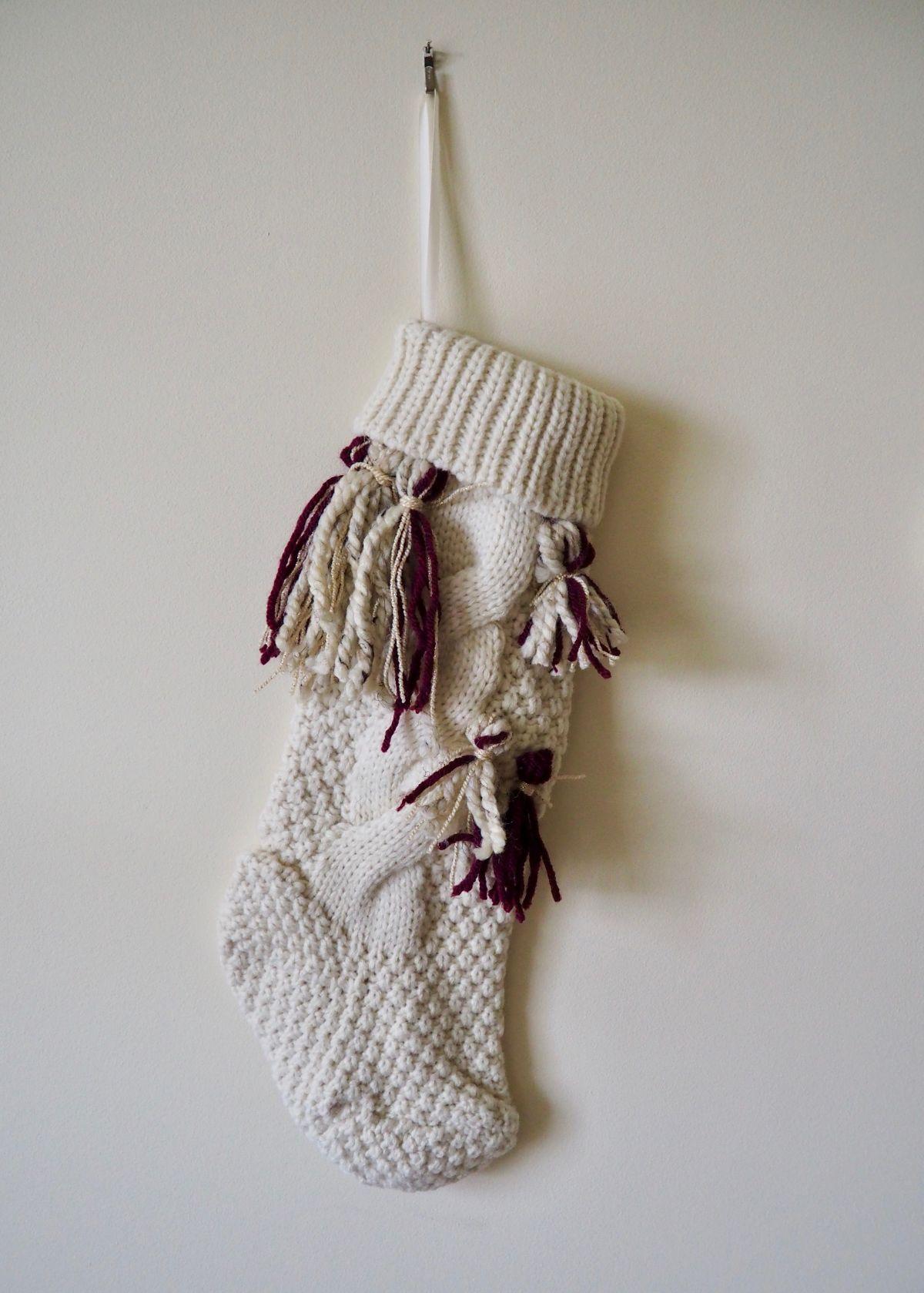 DIY Tassel Christmas Stocking