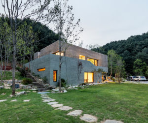 A Tranquil Home Trapped Between A River And A Mountain