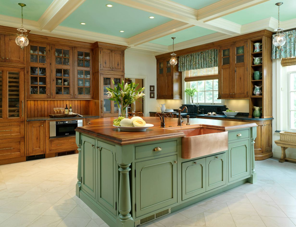 green kitchen island invigorating ways to decorate with green kitchen cabinets 11962