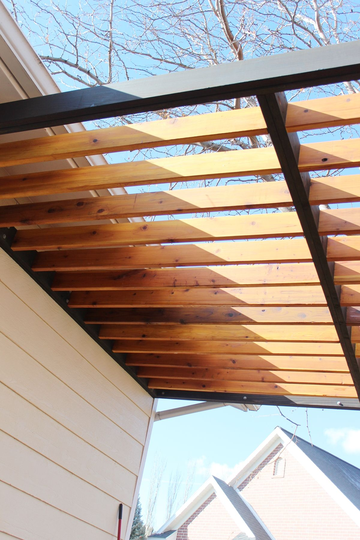 installing the second rafter of each line