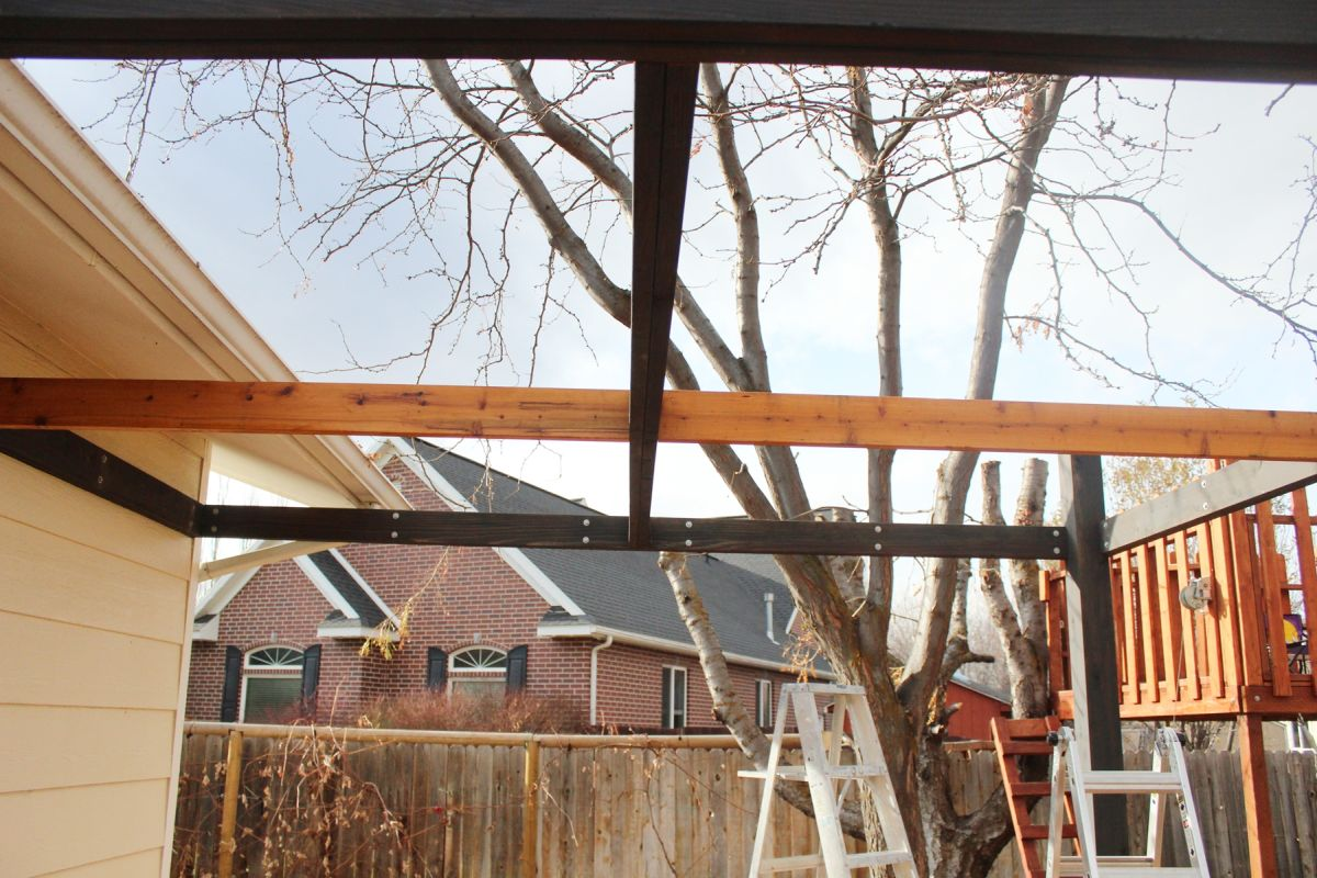 rafters are seamlessly connected to the framing