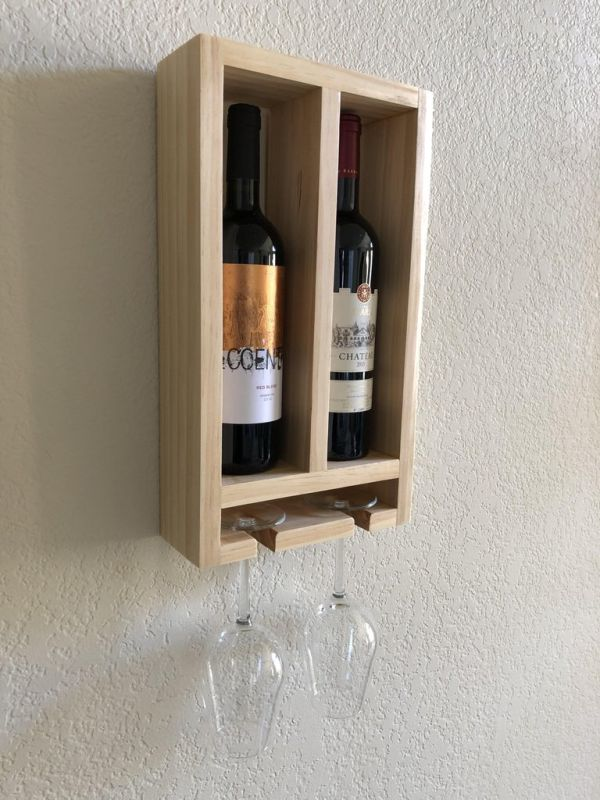 A simple wine rack for two