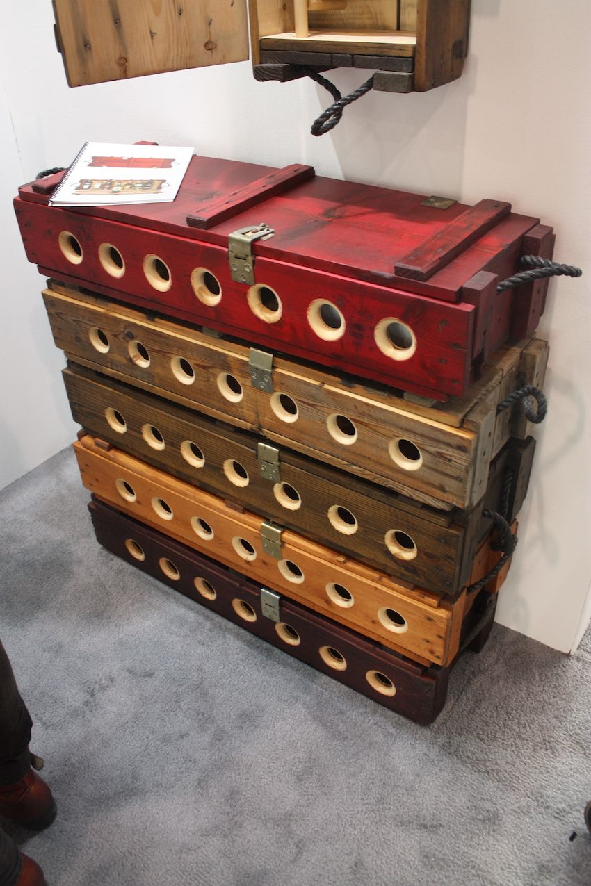Wine storage and display are both possible with these repurposed cases.