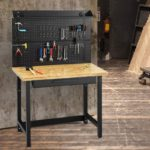 Bamboo Tabletop Steel Work Bench Work Table