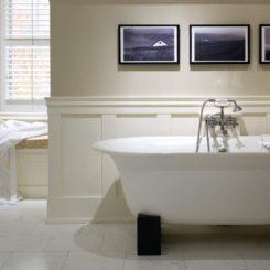 Bathroom White wainscoting