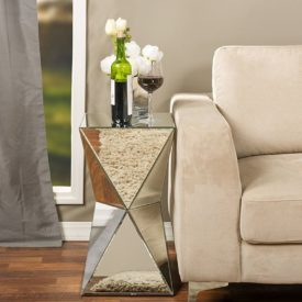 Baxton Rebecca mirrored side table