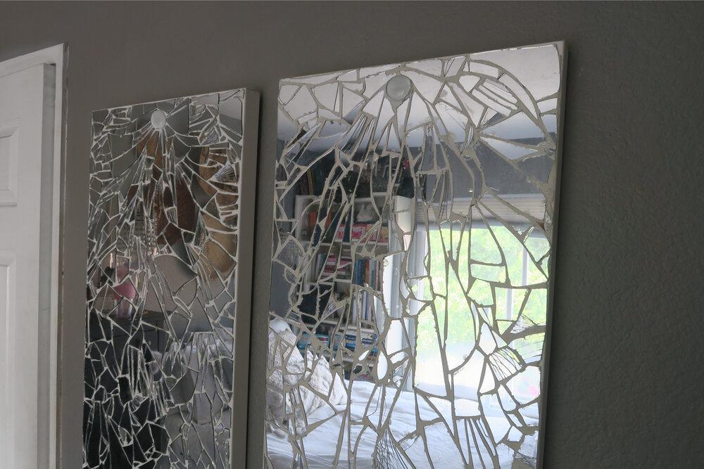 neutral wall art Broken Mirror Mosaic