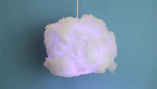 How To Make a Fluffy Cloud Lamp For Kids Room