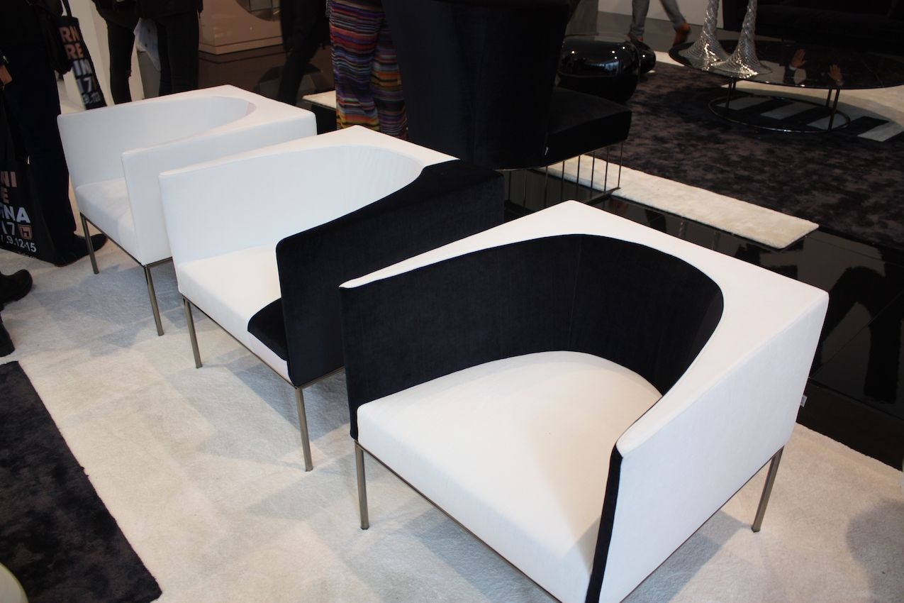 These chairs from Erba would go well in a luxe space as well as a Scandinavian style room.