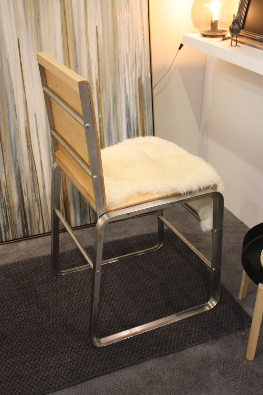 The bar stool version has a more vertical angle to the seat, which is more conducive to working or dining.
