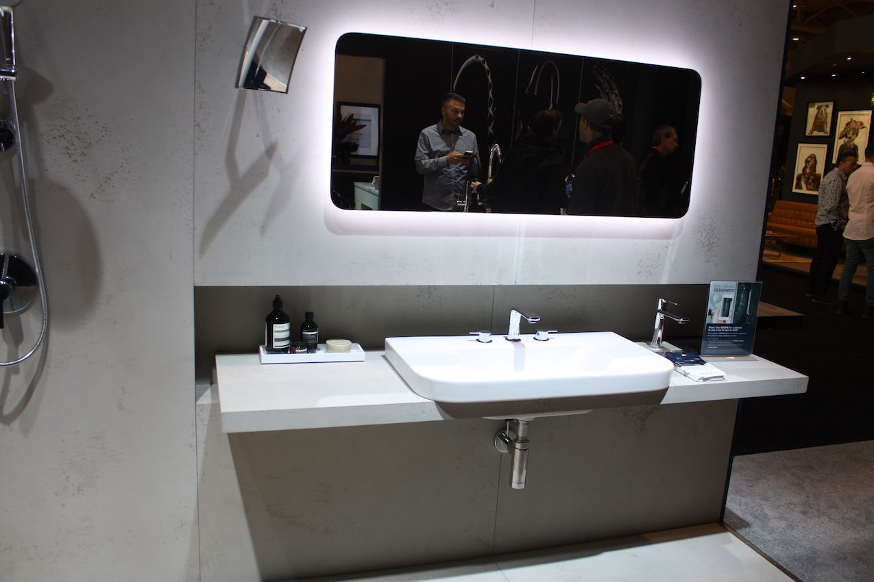 Smaller bathrooms will feel larger with a floating vanity.