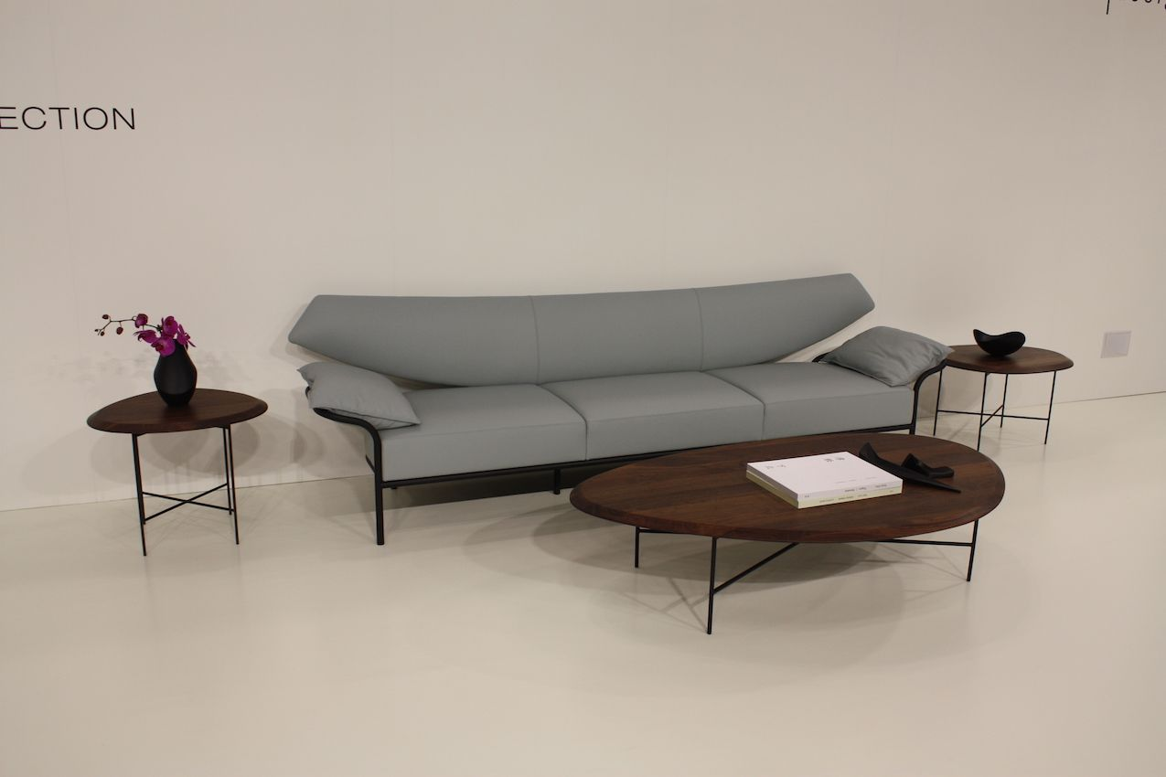 Sleek contemporary designs like these from Bernhardt are characteristic of ICFF.