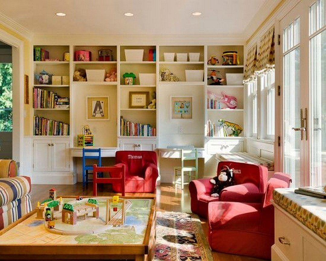 50 ways to decorate your home with kids in mind for Kid friendly family room design