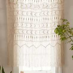Kitchen curtain macrame shade