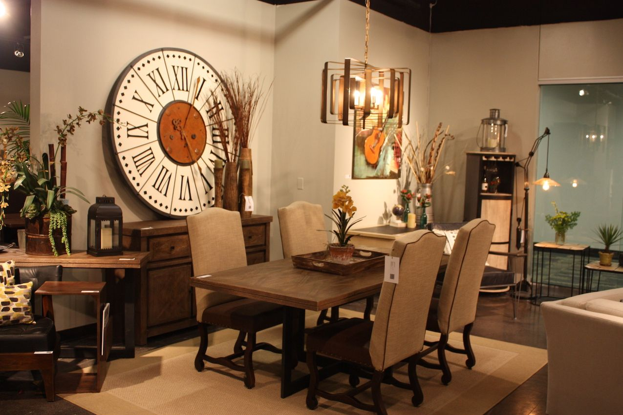 Home Accents' dining room is one of countless styles at the Vegas Market.