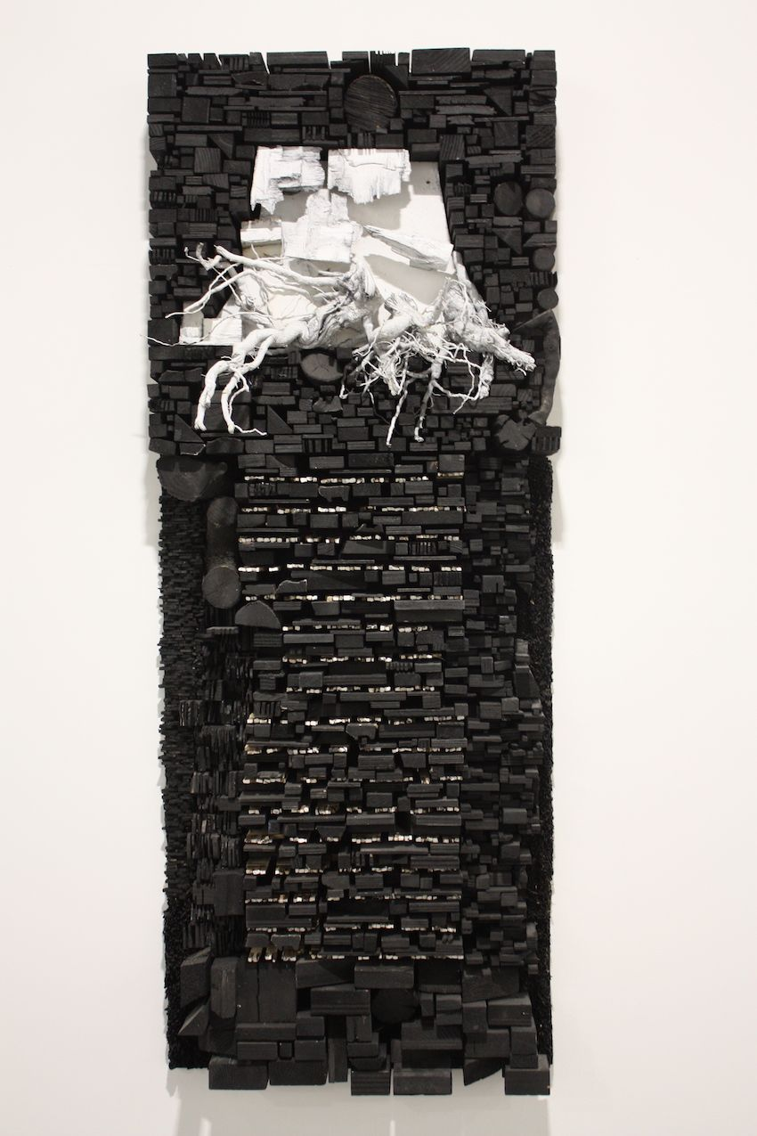 Drew's work is influenced by his childhood as an African American growing up in a public housing project.
