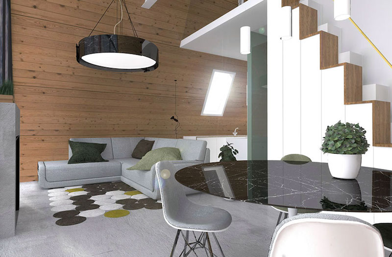 The ground floor is a social and gathering space which can be furnished in a lot of cool ways